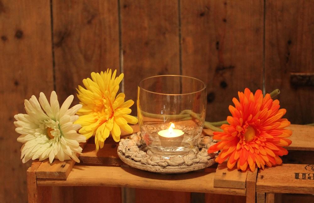 Restposten Teelichthalter Glas 9 5 X 10 6cm Windlicht